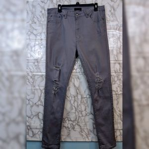 American Bazi | Grey distressed jeans